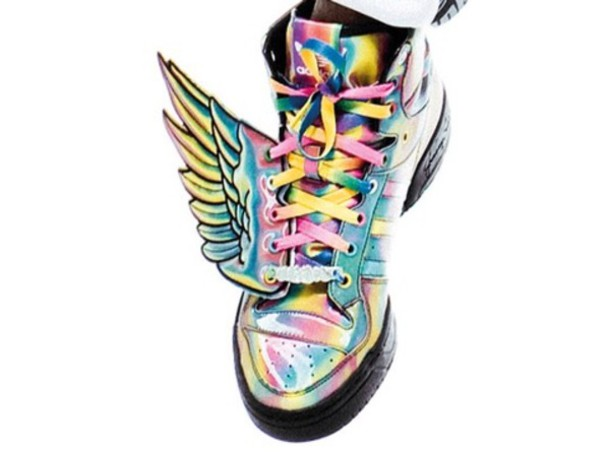 610x452 Rainbow Iridscent Wings Size 10 Uk Jeremy Scott Adidas Originals