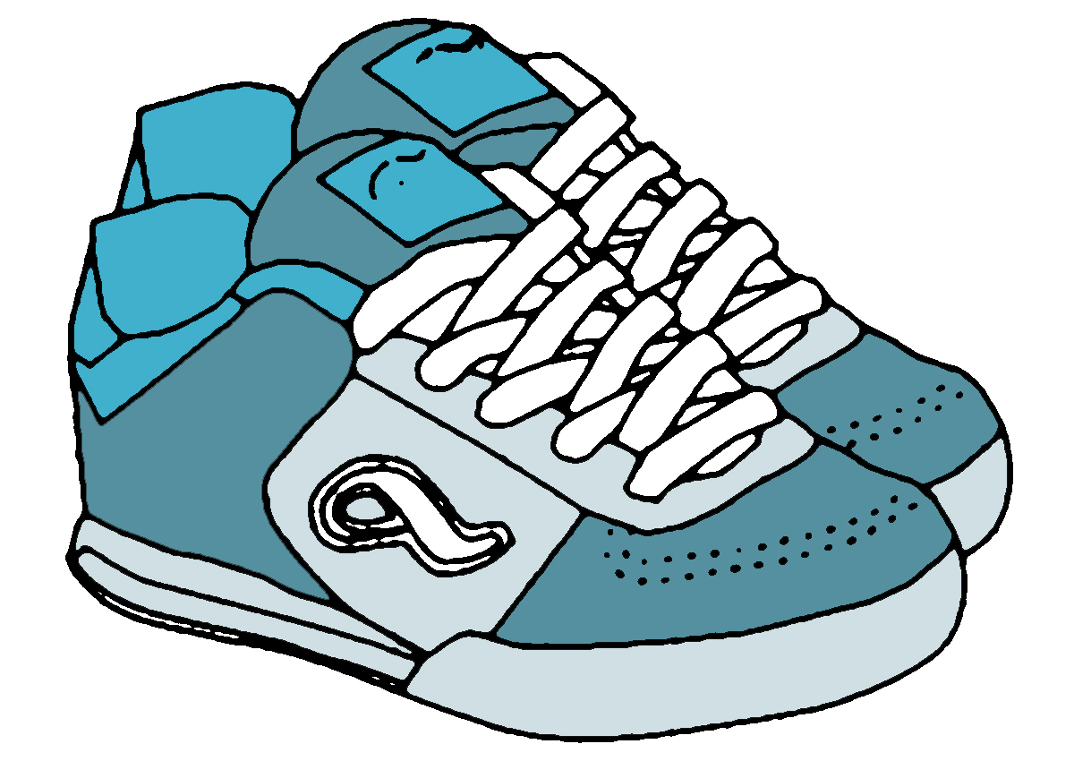 1200x850 Running Shoes Clipart