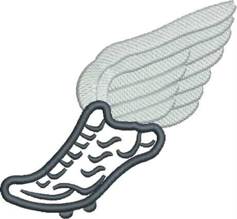 461x426 Track Shoe With Wings 7 Clip Art