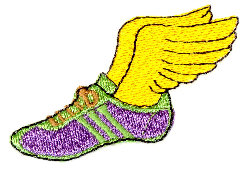 1000x693 Track Shoe With Wings Clipart 5
