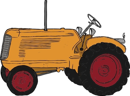 494x368 Tractor Vector Image Free Vector Download (49 Free Vector)