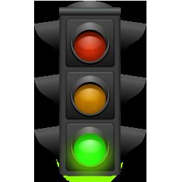 256x256 Traffic Light Clip Art