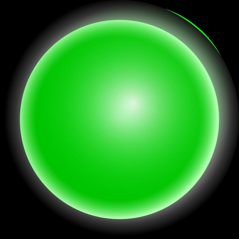 800x800 Green Traffic Light Clipart