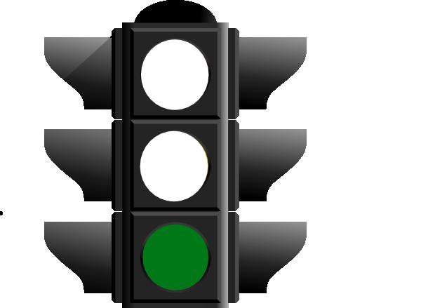 600x439 Green Light Clipart Traffic