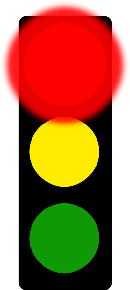 264x587 Red Stop Light Clip Art