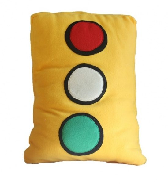 549x600 Traffic Light Pillow Supreme Accents
