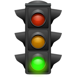 256x256 Traffic Light Clipart Red