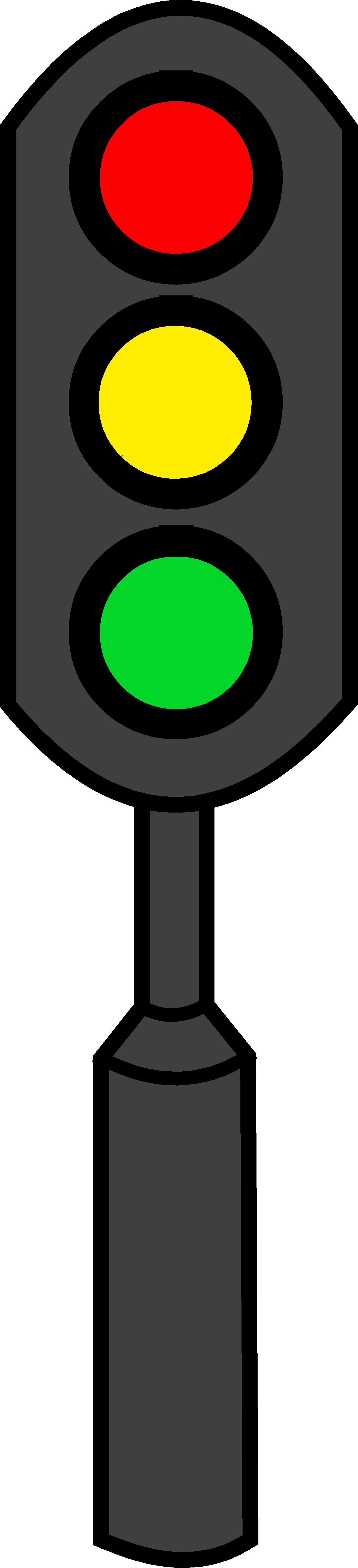 1312x5743 Traffic Light Clipart Single