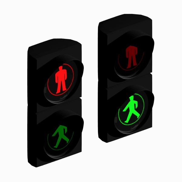 600x600 Animated Traffic Light Clipart