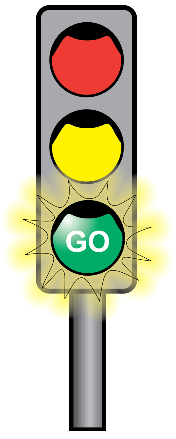 600x1491 Black And White Traffic Light Clipart