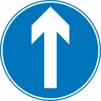 400x400 Right Turn Traffic Sign Transparent Png