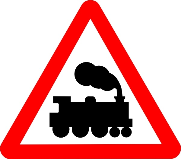 600x527 Train Road Signs Clip Art Free Vector In Open Office Drawing Svg