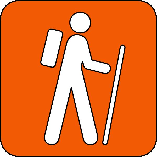 600x600 Hiking Trail Orange Clip Art