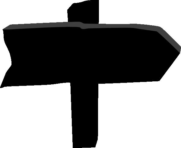 600x493 Black Wood Sign Clip Art