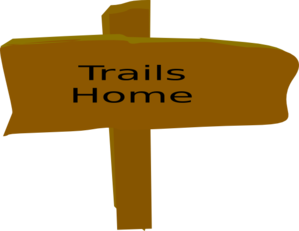 299x231 Trail Sign, From Box Canyon Trail Sign Clip Art