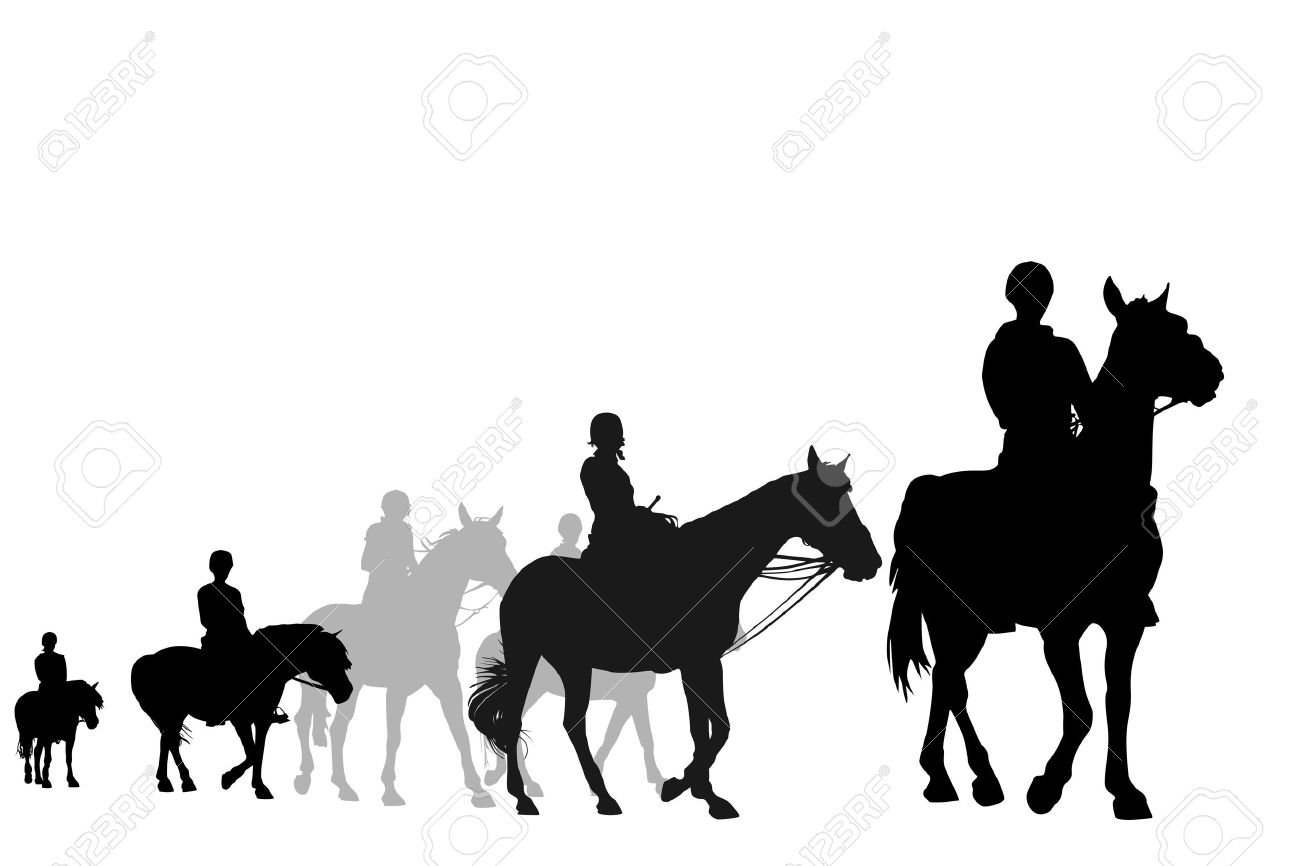 1300x866 Trail Horse Clipart