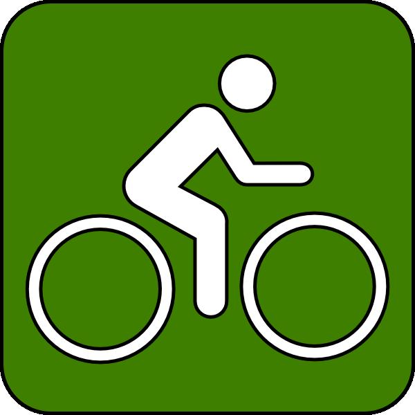 600x600 Bike Trail Symbol Green Clip Art