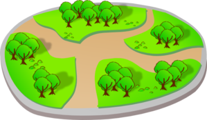 299x174 Park With Trails Clip Art