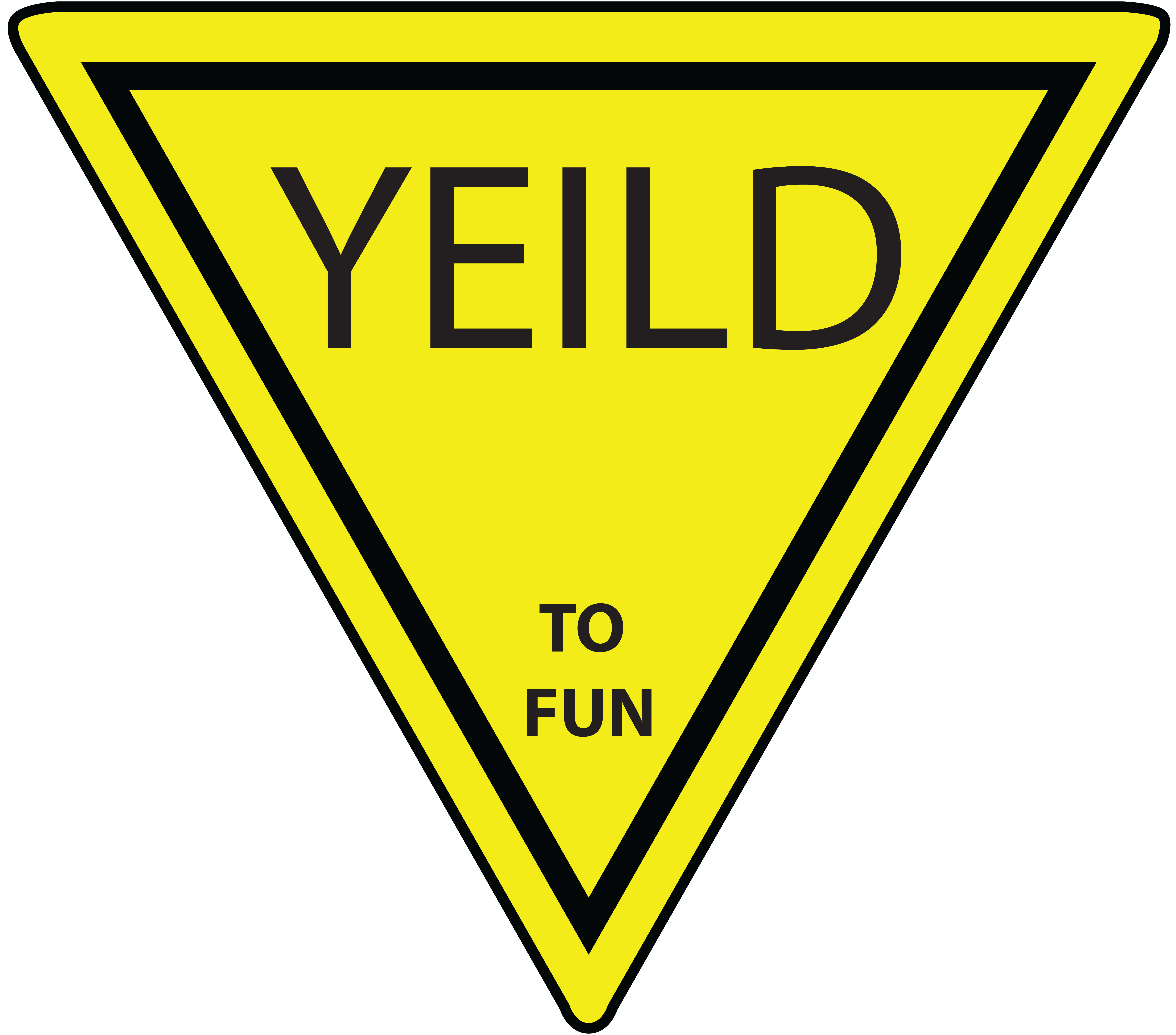 6946x6113 Yield Sign Clip Art Many Interesting Cliparts
