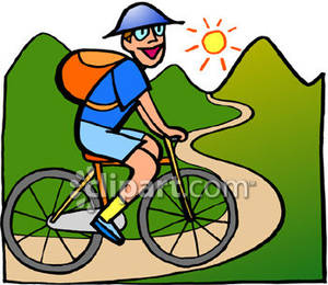 300x260 Of A Man Riding A Bike In The Mountains