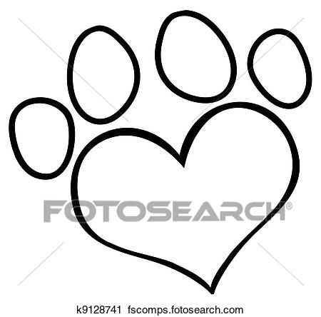 450x444 Clipart Of Animal Trails With Title K2278100