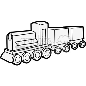 300x300 Royalty Free Outline Of Wooden Train Illustration Graphic 398067