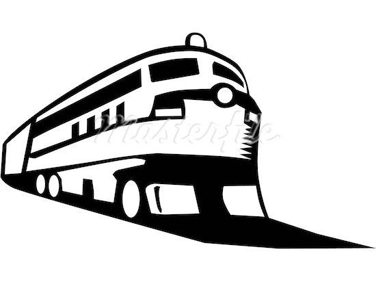 550x412 Speeding Train Clip Art