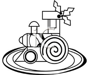 300x255 Toy Train Black And White Clipart