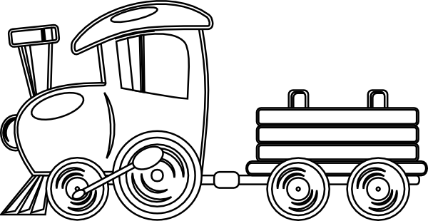 600x310 Train Outline Clip Art