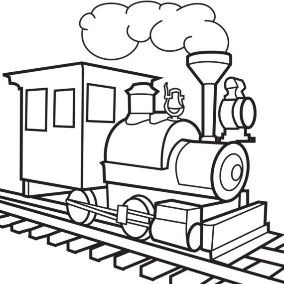 570x570 Train Clipart Black And White