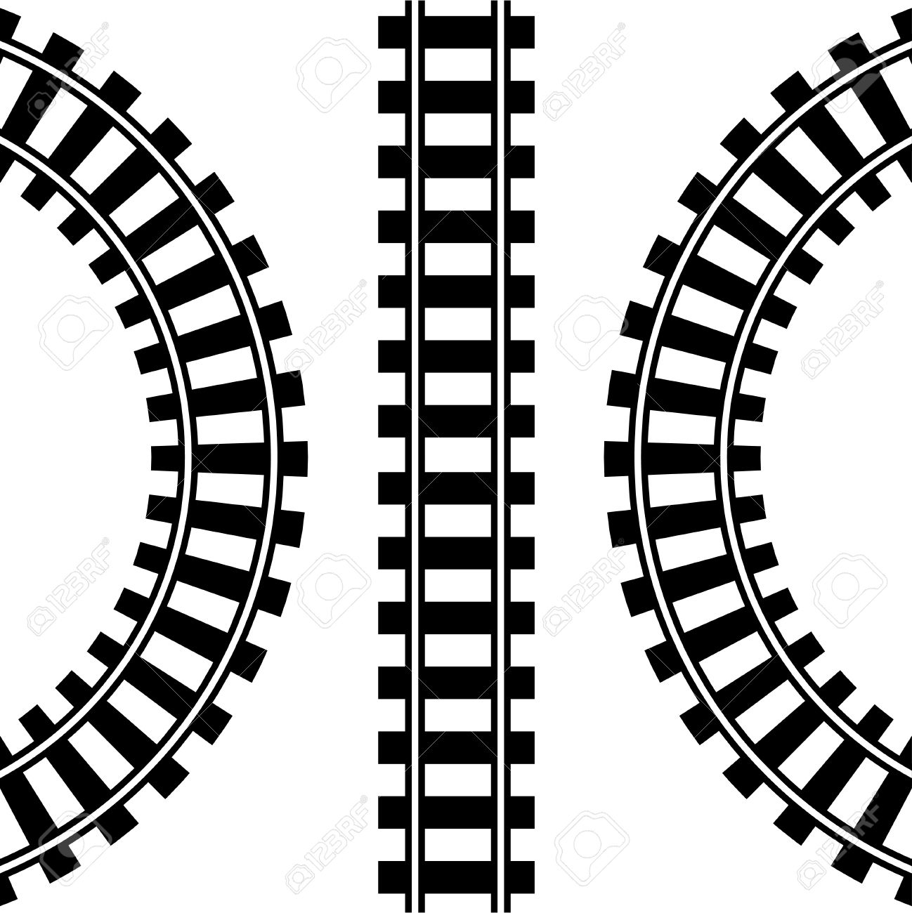 1298x1300 Train Track Clipart
