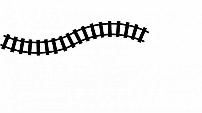 820x458 Curved Train Track Clipart Clipart Panda Free Clipart Images20 Png