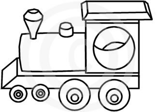 325x231 Train Clipart Black And White