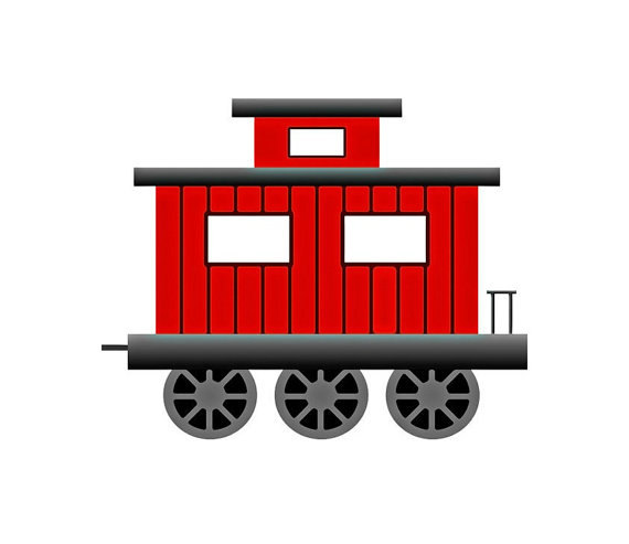 570x493 Little Red Caboose Clip Art Clipart