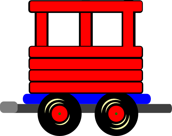 600x473 Loco Train Carriage Clip Art