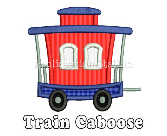 570x465 Train Caboose Clipart