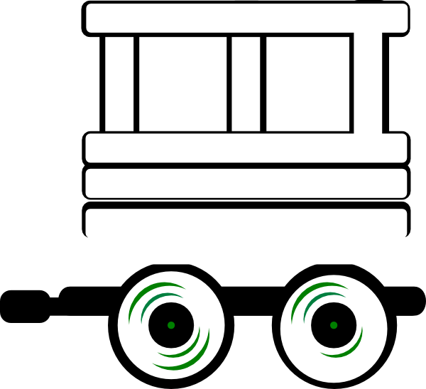 600x548 Train Caboose Clipart Black And White