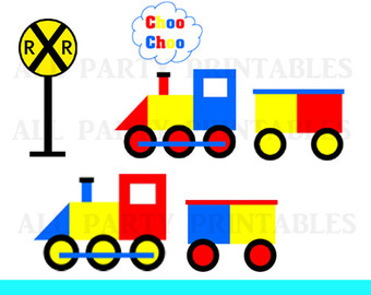 340x270 Train Clipart With Conductor Locomotive Caboose Cute Boy