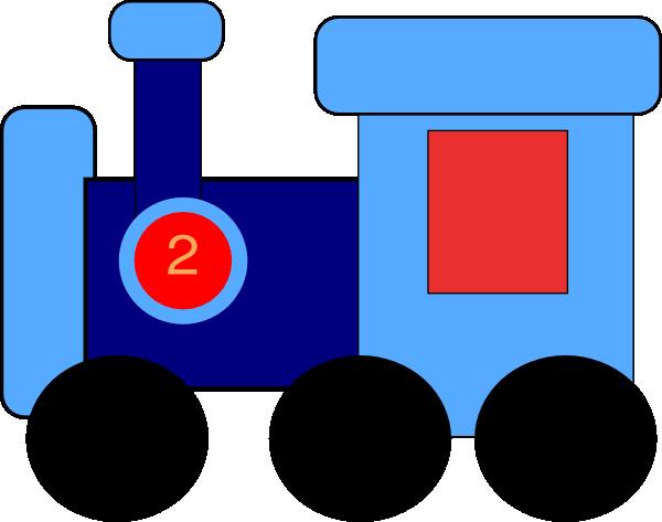 600x473 Caboose Blue Train Clip Art