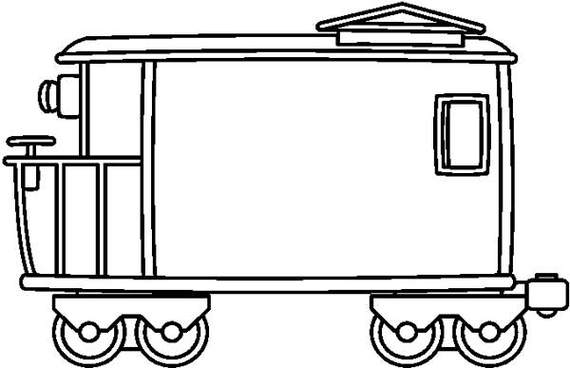 570x368 Caboose Clipart Black And White