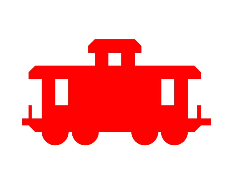750x600 Caboose Outline Clipart