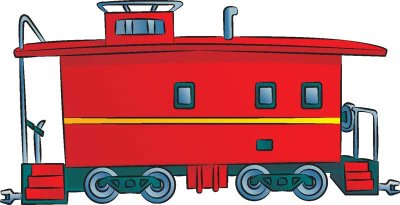 400x205 Caboose Clipart