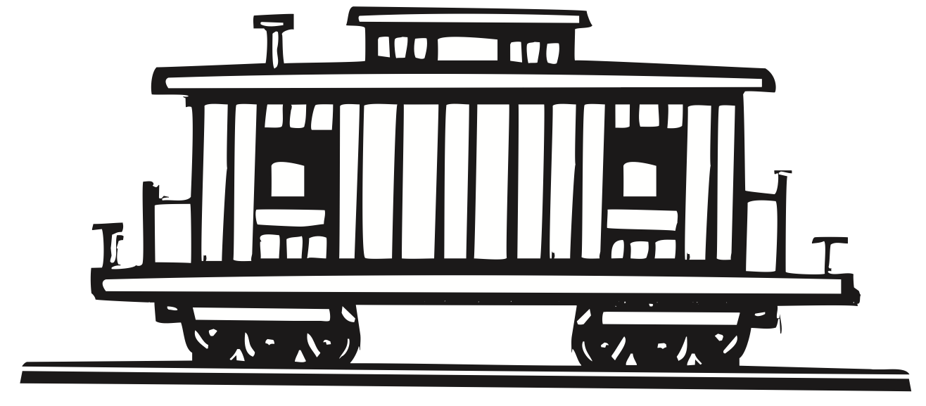 1316x577 Caboose Loco Train Carriage Clip Art