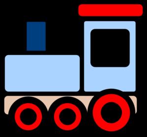 299x279 Little Blue Train Clip Art