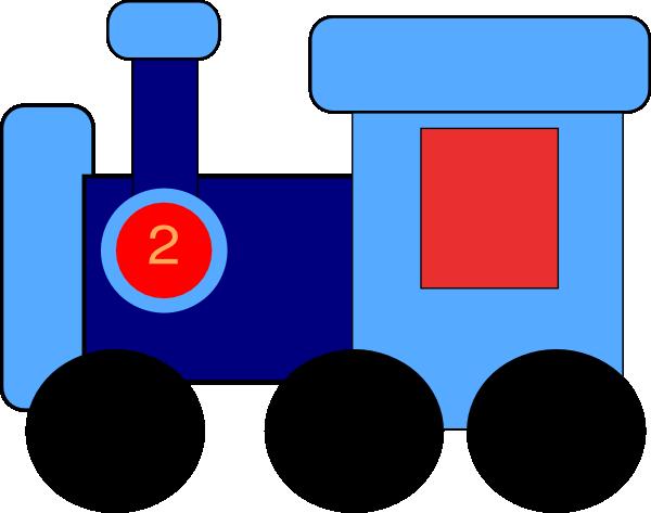 600x473 Blue Train Clip Art
