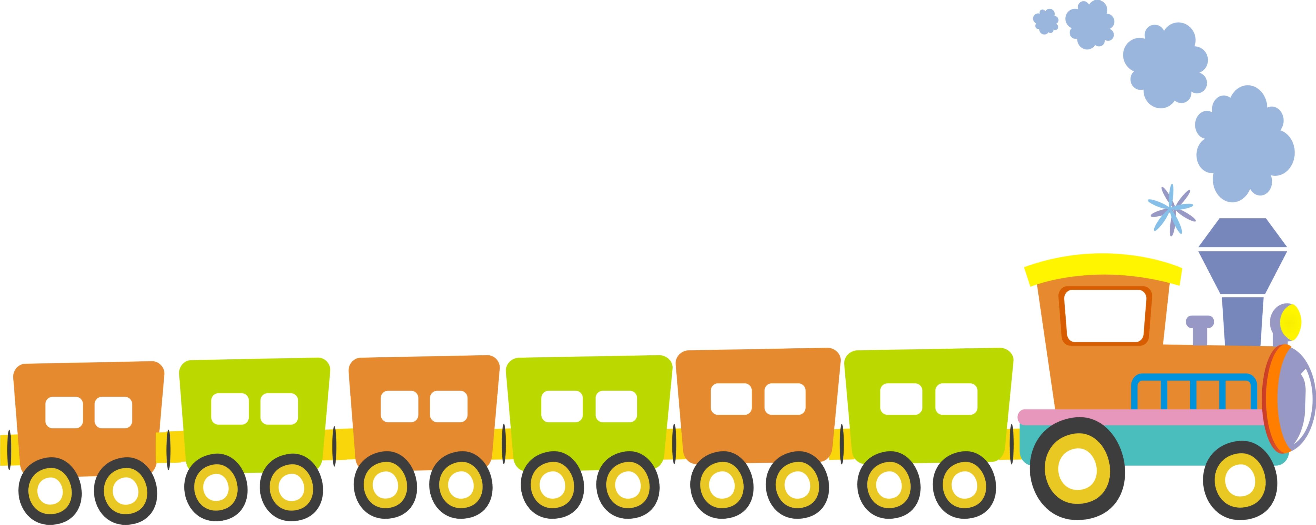 4541x1813 Train Clipart Cartoon