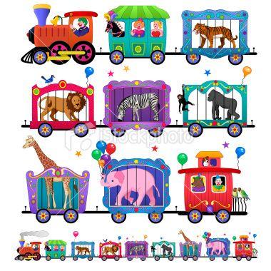 380x380 Circus Train Clipart