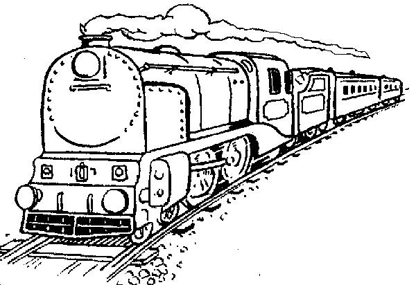 600x412 Drawn Train Railway Line