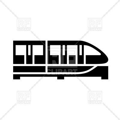 400x400 Train Black Icon Royalty Free Vector Clip Art Image