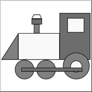 304x304 Clip Art Basic Shapes Train Grayscale I Abcteach